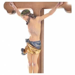 Crucifix croix trilobée bois peint Val Gardena s2