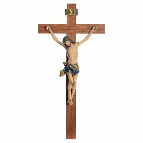 Crucifix droit mod. Corpus bois Old Gold Valgardena s1