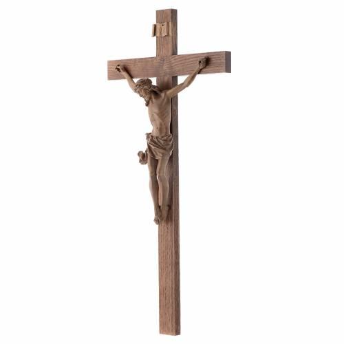 Crucifix droit mod. Corpus bois patiné Valgardena s2