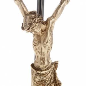 Crucifix en métal: Crucifix foncé avec Corps du Christ doré 35 cm