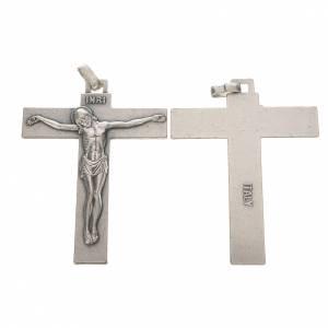 Crucifix in silver metal 7.5cm s1