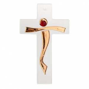 Crucifix moderne verre s1