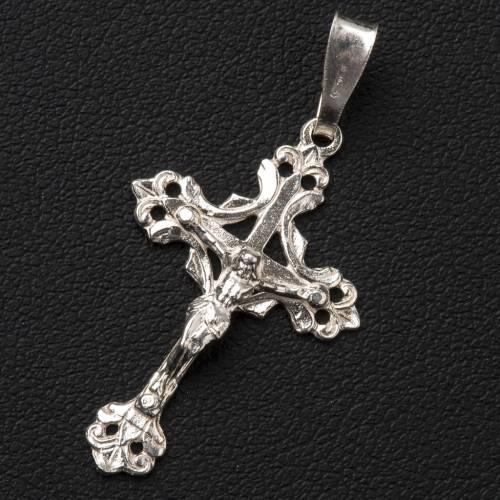 Crucifix trilobé  argent 800 percé s2