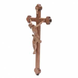 Crucifix trilobé Valgardena mod. Corpus patiné s2