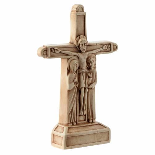 Crucifixión de color marfil s3