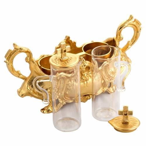 Cruet set in gold-plated molten bronze s4
