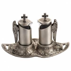 Cruet set in silver molten bronze s1