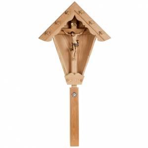 Cruz campo alerce con cuerpo de Cristo Val gardena s1