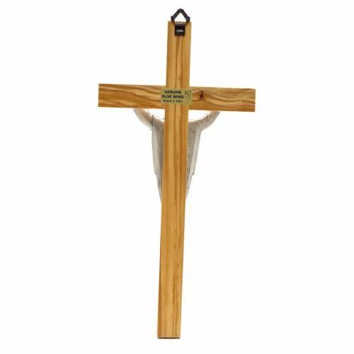 Cruz de Cristo resucitado madera de olivo s2