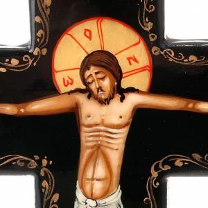 Íconos en cruz: Cruz ícono pintado rusa 16x11 cm