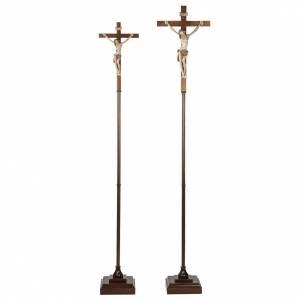 Cruz procesional madera de nogal s1