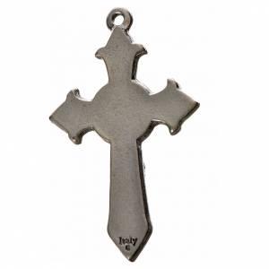 Cruces Colgantes Collares de metal: Cruz puntiaguda Espíritu Santo 4.5x2.8cm zamak y esmalte azul