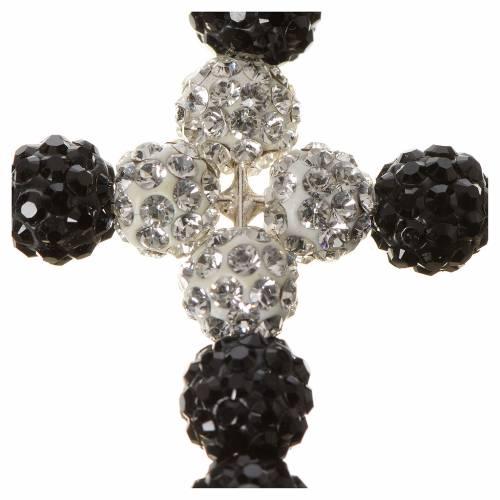 Cruz Swarovski dos colores, blanco y negro s2