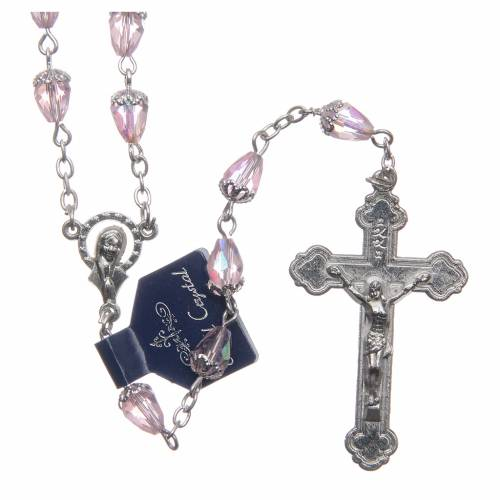 Crystal rosary drop-shaped beads s1