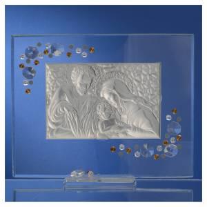 Regalos y Recuerdos: Cuadro S.Familia Swarovski ámbra 19x16 cm