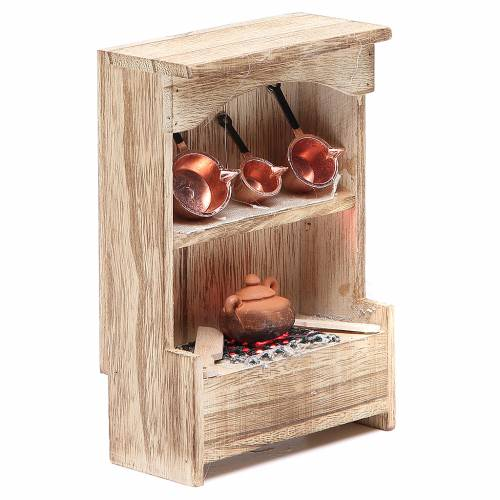 Cucina in legno con luce e miniature 10x3xh.14 cm s3