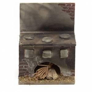 Presepe Napoletano: Cucina presepe napoletano legno 8x6,5x5 cm