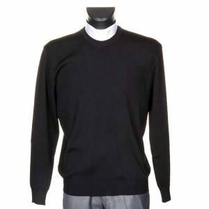 Cuello redondo lana negra s1