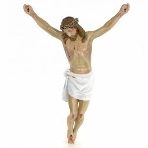 Cuerpo de Cristo muerto 50cm pasta de madera dec. elegante s1