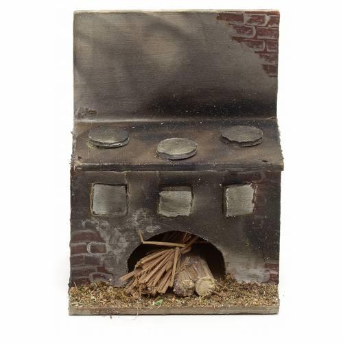 Cuisinière en miniature crèche Napolitaine 8x6,5x5 s1