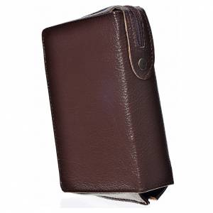 Daily Prayer covers: Daily prayer cover dark brown bonded leather, Christ Pantocrator with open book image