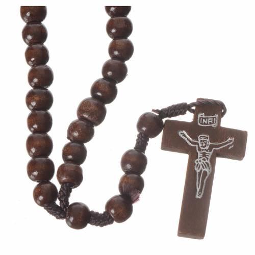 Dark wood rosary beads s1