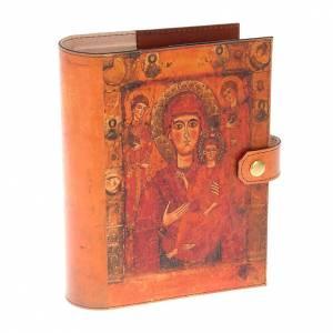 Jerusalem Bibel Deckel: Deckel Bibel echte Leder Mutter Gottes Odigitria