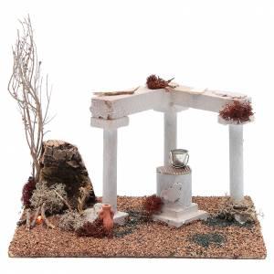 Maisons, milieux, ateliers, puits: Décor arabe puits et feu led 25x20x15 cm