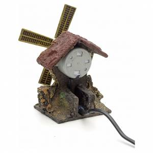 Décor crèche moulin à vent en résine s3