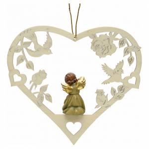 Décoration Noël ange avec flûte coeur s2