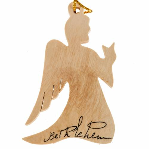 Décoration Noel bois olivier ange s1
