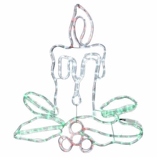 Decorazione natalizia candela 168 led esterno s1