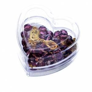 Devotional Chaplet and necklace Our Lady of Fatima, lilac s5