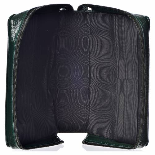 Divine office cover, green bonded leather Divine Mercy s3