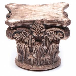 Home accessories miniatures: DIY nativity scene antient Corinthian capital 5x5x5 cm
