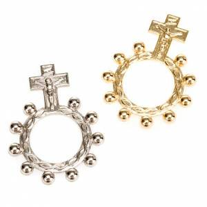 Bagues religieuses: Dizainier argenté et doré