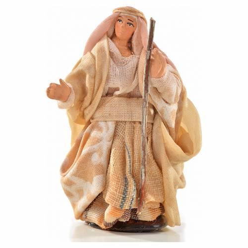 Donna con bastone 6 cm presepe Napoli stile arabo s1