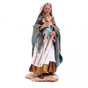 Donna con bimbo 18 cm Angela Tripi terracotta s1