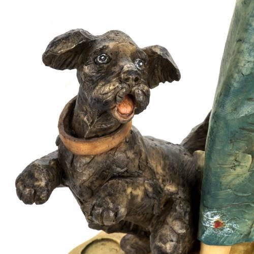 Donna con cane 52 cm presepe Fontanini s3
