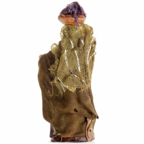 Donna con panni in testa 8 cm presepe Napoli s2