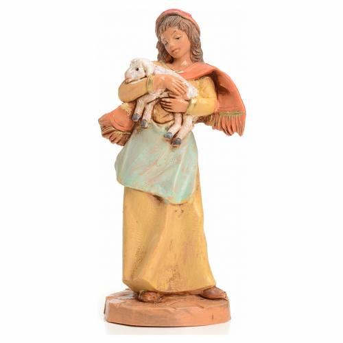 Donna con pecorella 9,5 cm Fontanini s1