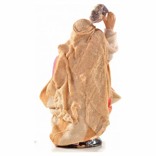 Donna panni in testa 6 cm presepe Napoli stile arabo s2