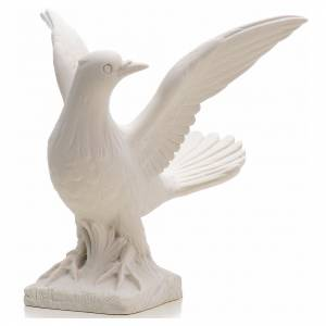 Dove with open wings statue in reconstituted marble, 25 cm s4