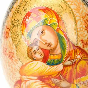 Egg-icon the Virgin of Vladimir with red mantle s4