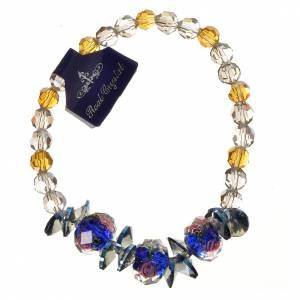 Elastic bracelet in crystal with Trinity, blue s1