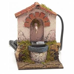Electric fountain for nativities 14x10x12cm s1