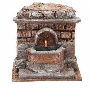 Fountains: Electric Fountain nativity with bricks 18x16x16cm