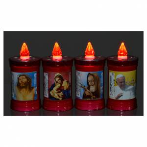 Votive candles: Electric votive candle in PVC, red, lasting 40 days