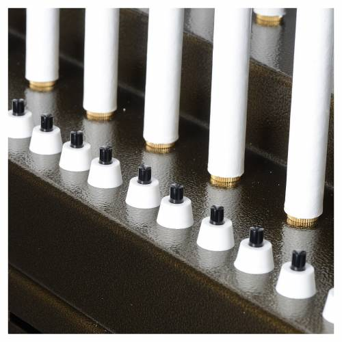 Electric votive offering 31 candles, 12V lights and buttons s8