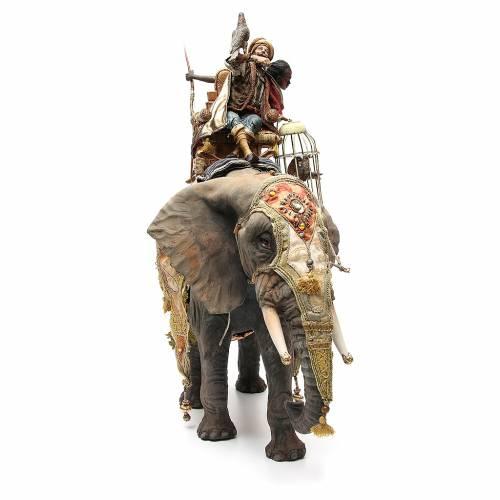 Elefante con Re e servo Presepe Angela Tripi 30 cm s4